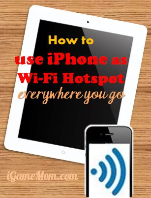 How to use iPhone as Wifi hotspots