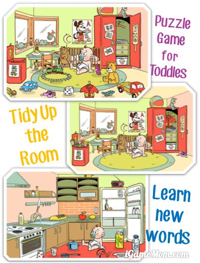 Play puzzles - tidy up rooms - learn new words