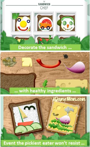 Sandwich Chef - encouraging kids eat healthy