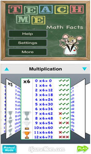 TeachMe Math Facts - Practice math facts with fun