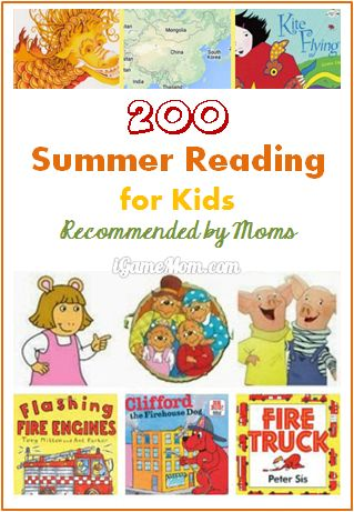 200 books for kids summer reading recommended by moms