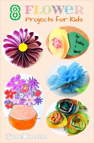 8 flower art craft project for kids