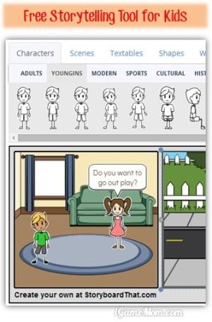 Free storytelling tool for kids
