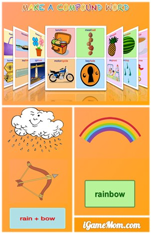 Make a compound word - expand kids vocabulary with fun