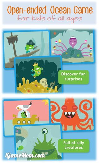 Open ended ocean exploration game for toddlers