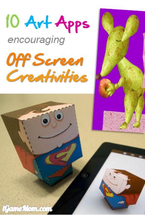 10 Art Apps for Kids Encouraging Off-screen Creativities