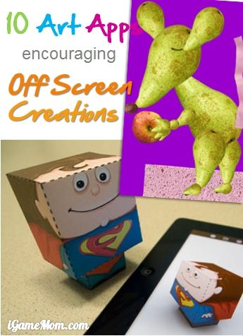 Art Apps for Kid encourage off screen creativity