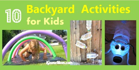 Backyard activities for kids