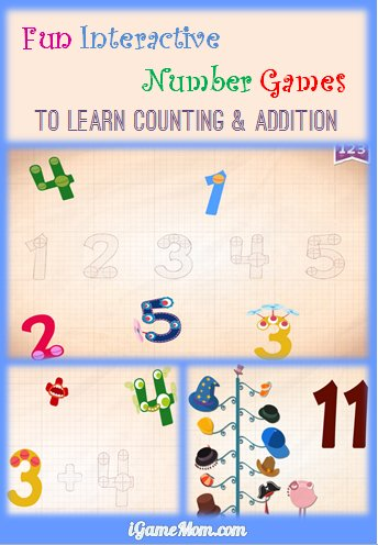 Learn counting and addition with fun interactive number games