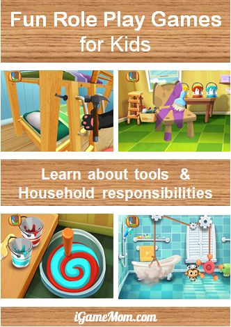 Role play game for kids to learn household tools