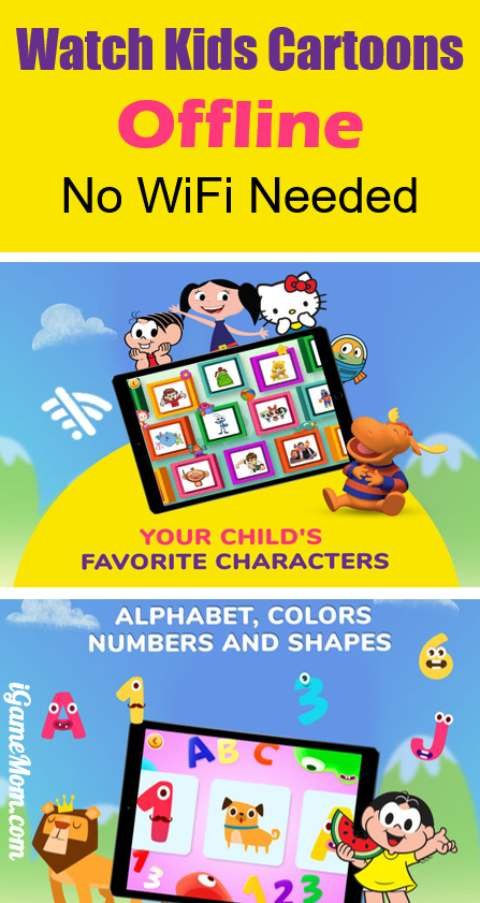 Watch kids cartoons offline without Wi-Fi, many kids favorite shows, plus learning games for toddlers and preschool children