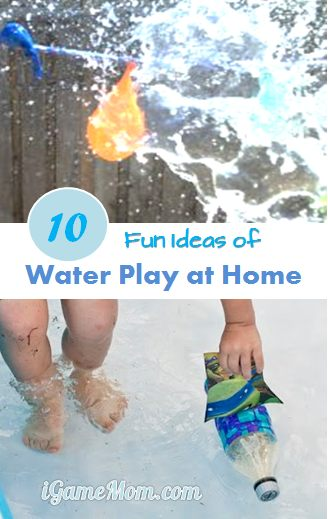 fun ideas of water play at home