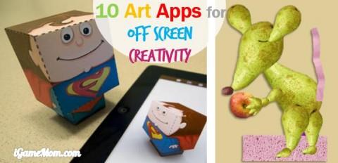 off screen creativity art apps