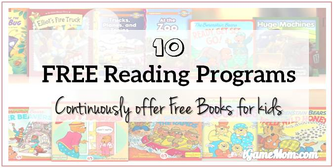 10 Reading Programs Continuously Offer Free Books for Kids