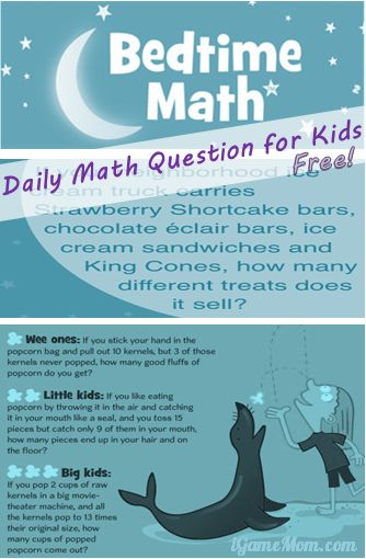 Free App: Daily Math Questions with Bedtime Math