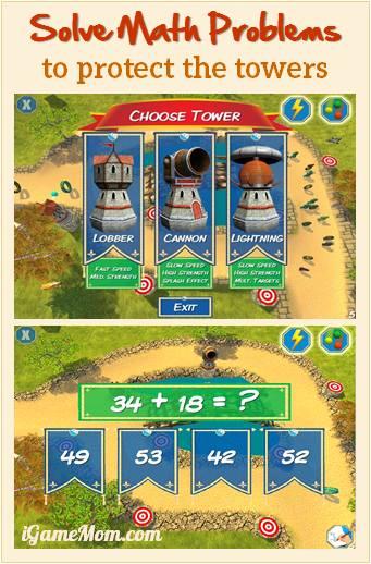 Fun math game app for kids - Math Tower
