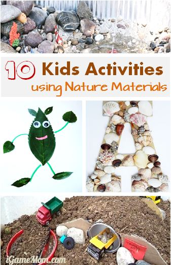 Kids Activity using Nature materials