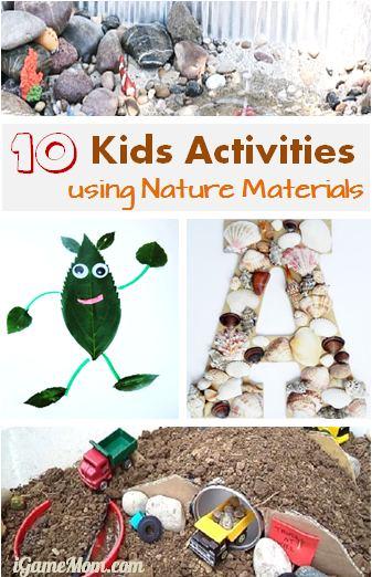Kids Activity using Nature materials