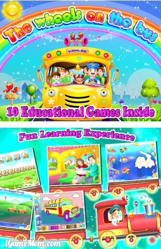 On the go kids learning activities - Wheels on the bus app