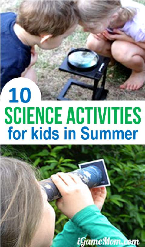 fun science activities for kids perfect for summer, learn star, cloud, insect, plant, …