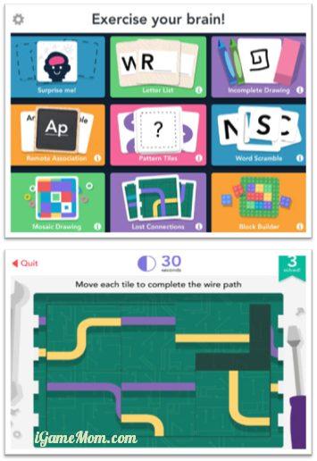 free brain training game app for kids