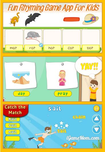fun rhyming game app for kids