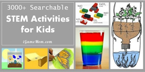 searchable STEM activities for kids