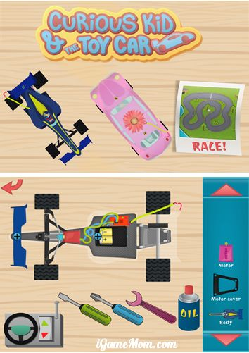 take apart cars with interactive app for kids