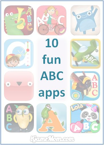 10 fun alphabet apps helping kids learning ABC - each is unique in certain ways, no matter what's your child's interest or learning style, you can find one he/she will like