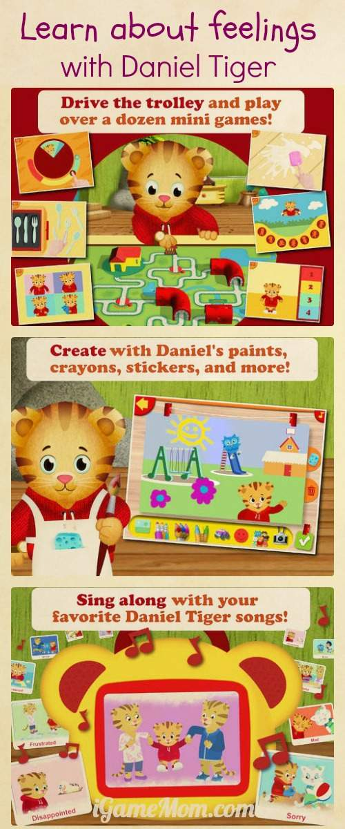 Learn About Feelings from Daniel Tiger - A fun app from PBS Kids