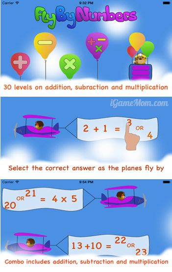 Practice math with airplane game