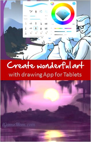 create wonderful art with drawing app