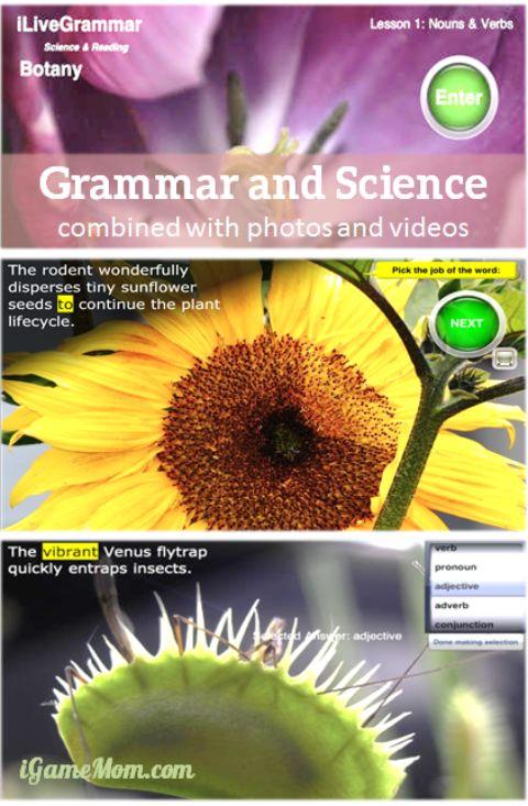App combining grammar and science