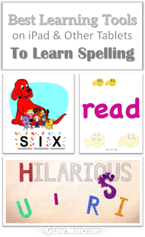 Top Learning Tools for Spelling, making it fun and engaging, including many fun spelling activities, spelling games for spelling practice. All available on iPad and other mobile devices