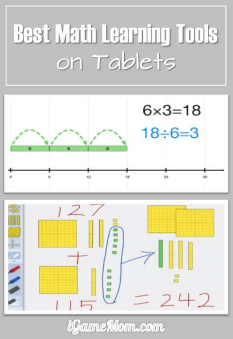 Best Math Learning Tools for kids from preschool kindergarten to middle and high school, including math games for drills and practice, concept explanations and lessons, targeted math learning activities. Most are free.  Great for classroom math centers, homeschool, or after school at home.