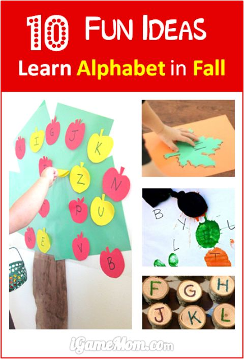 Fun ideas to learn alphabet in the fall season! Hands on ways to learn letters. Kids will love these fun seasonal learning activities.