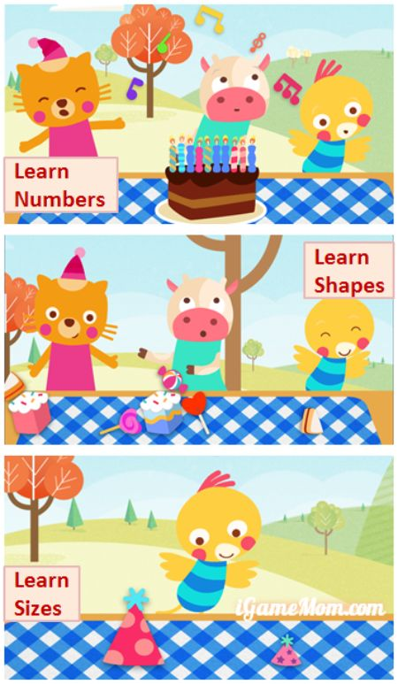 Learning while celebrating birthday - early learning app