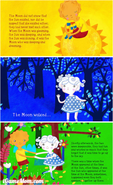 Lovely Book App for Kids about Moon and Sun