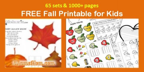 free fall themed printables for kids