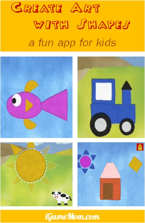 fun app for kids - create art with geometric shapes