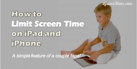 limit screen time on iPad iPhone simple feature