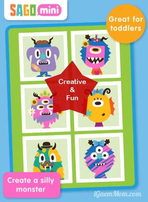 sago mini monsters - fun creative app for toddler preschooler
