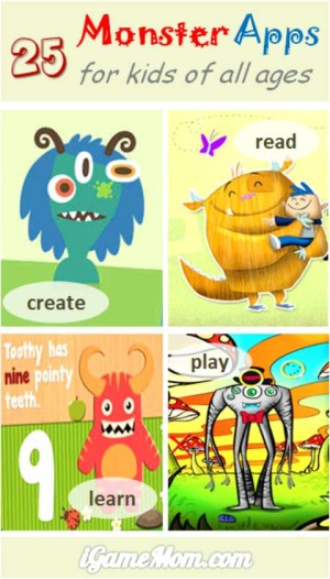 25 Monster Apps for Kids - Read, Create, Play, Learn