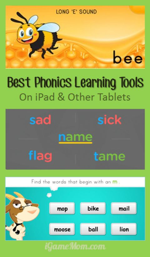 Best Phonics Learning Tools for Kids on iPad and Other Tablets - fun interactive phonics activities and games making learning interesting and engaging. You can find teaching ideas for preschool kindergarten and school age students.