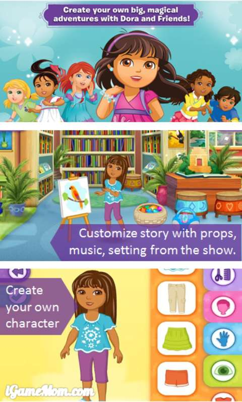 Dora and Friends App - open play for kids