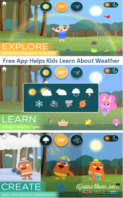 Free app for kids to learn about weather