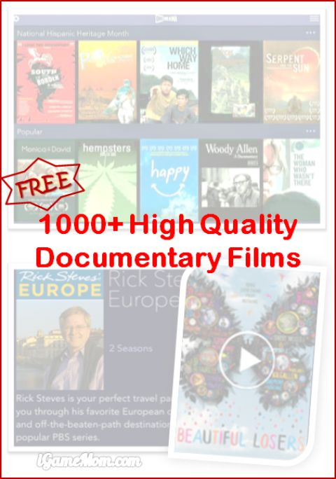 Free high quality documentary films on iPad Android