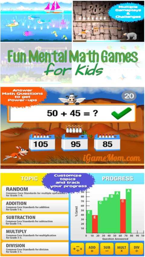 Fun Mental Math Game App for Kids