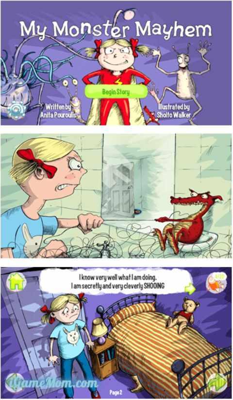 Fun intereactive monster book app for young children