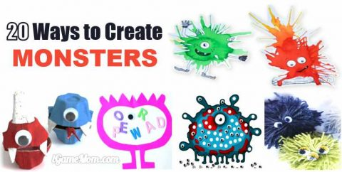 Fun ways to create monsters for kids creativity